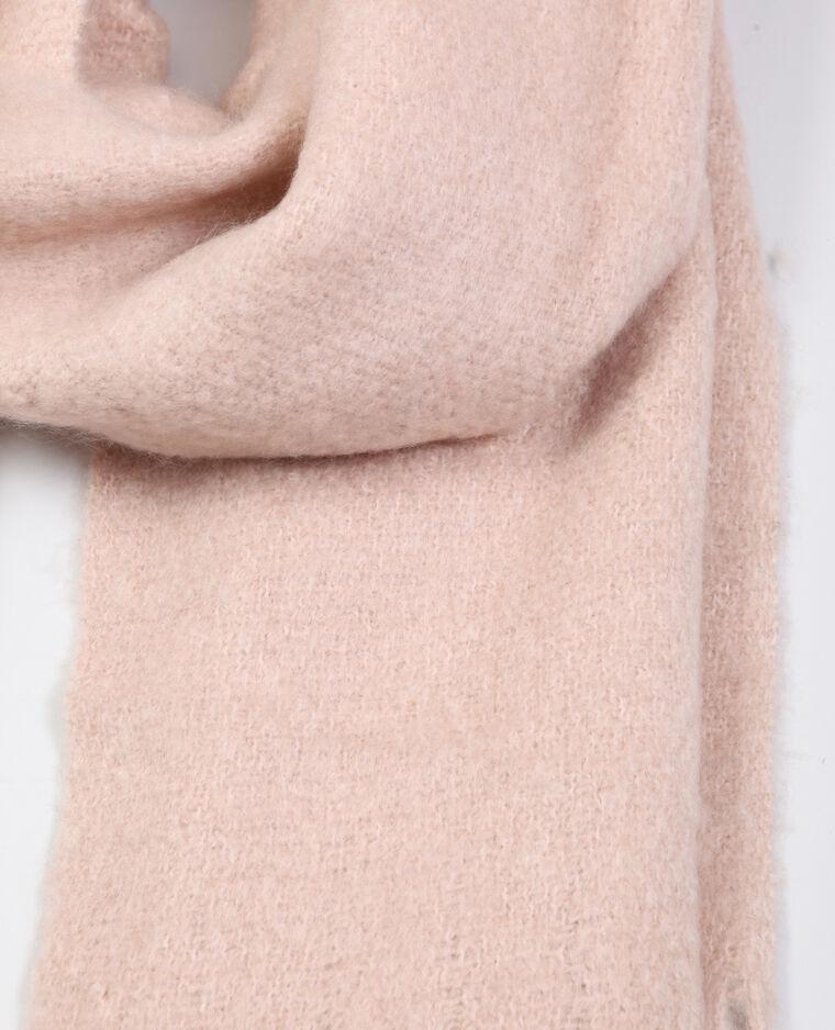 Echarpe à franges rose