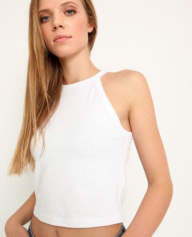 Cropped top uni blanc - Pimkie