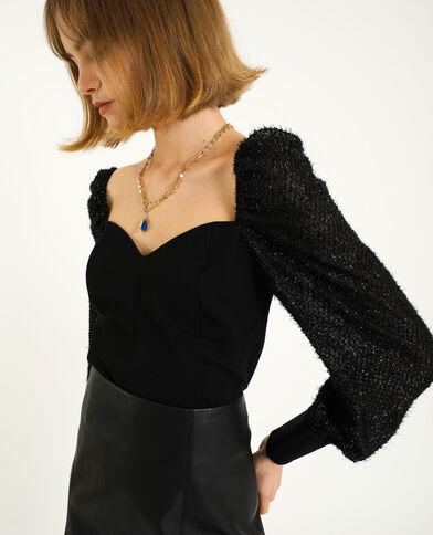 Top corset noir