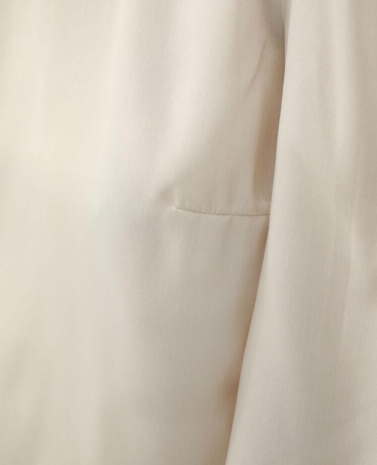 Chemisier satiné blanc cassé - Pimkie