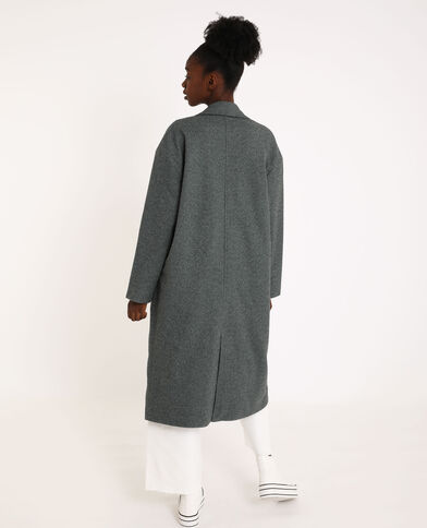 Manteau long droit gris