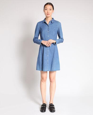Robe en jean bleu