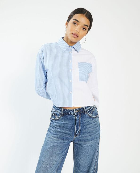 Chemise bicolore rayée blanc - Pimkie
