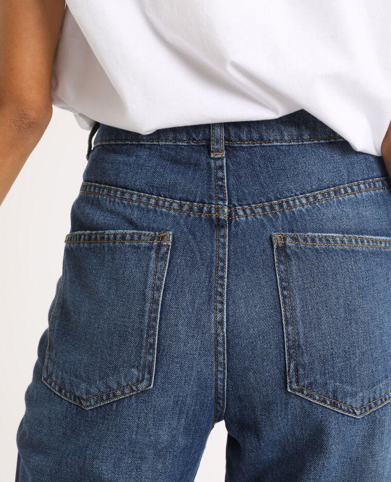Jean mom high waist bleu