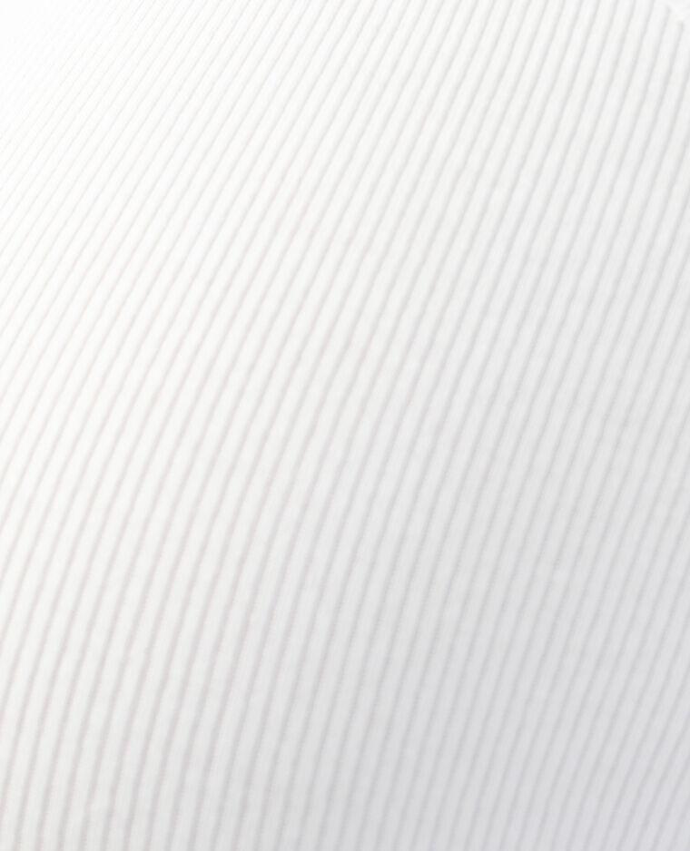 Débardeur côtelé blanc - Pimkie