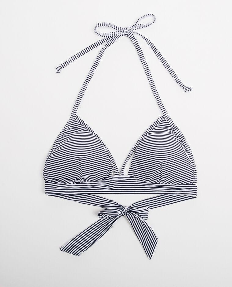 Haut de bikini triangle écru