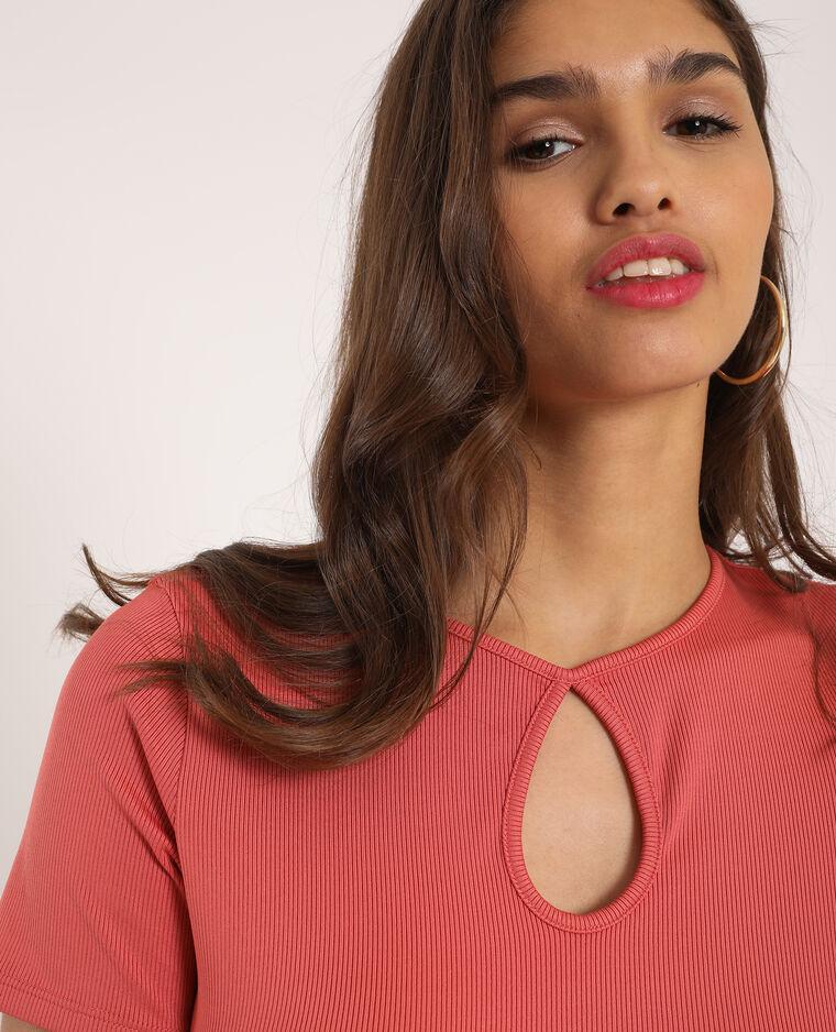 T-shirt texturé rose