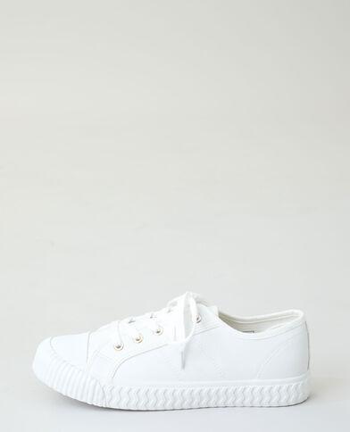 Baskets à lacets blanc cassé