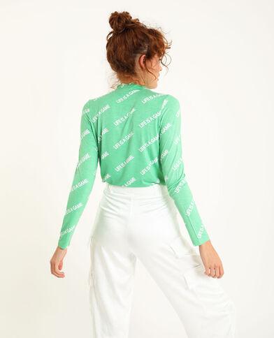T-shirt manches longues vert - Pimkie