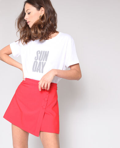 T-shirt à message écru
