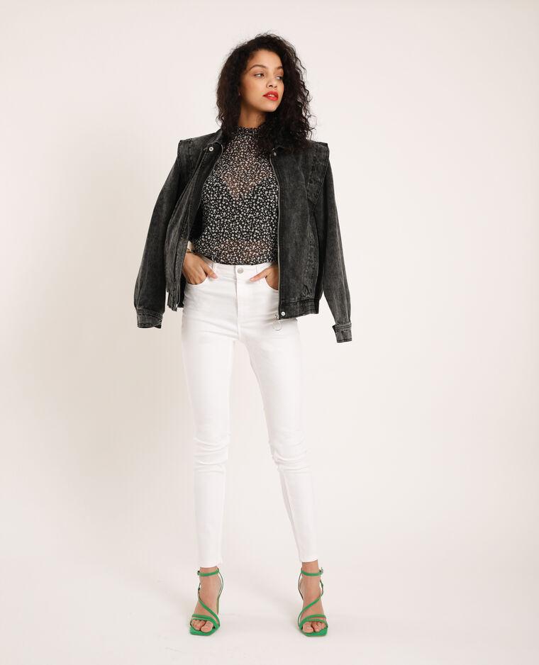 Jean skinny taille haute blanc - Pimkie
