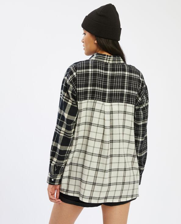 Chemise oversize à carreaux blanc - Pimkie