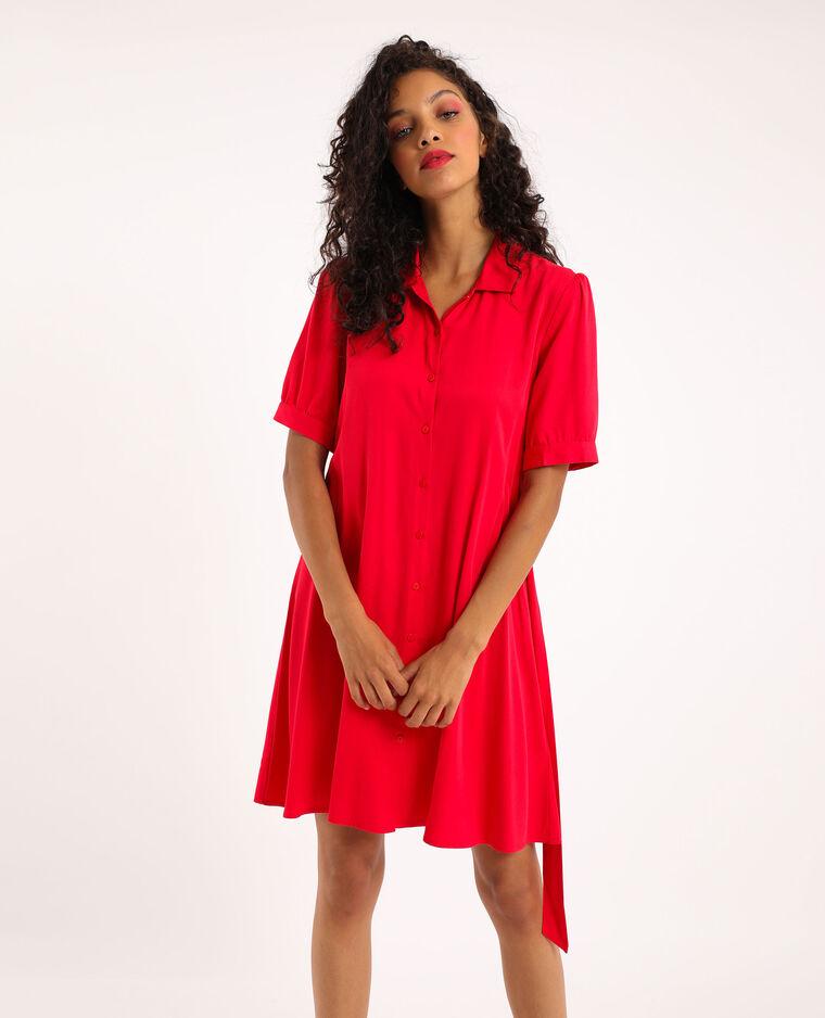 Robe boutonnée rouge - Pimkie