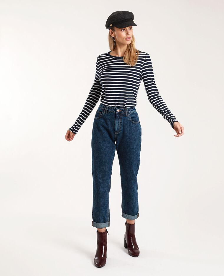 Jean mom high waist bleu brut