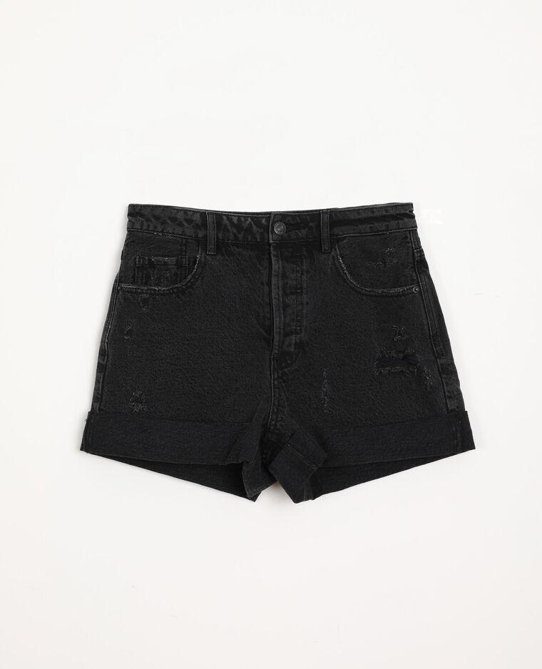Short en jean destroy noir - Pimkie