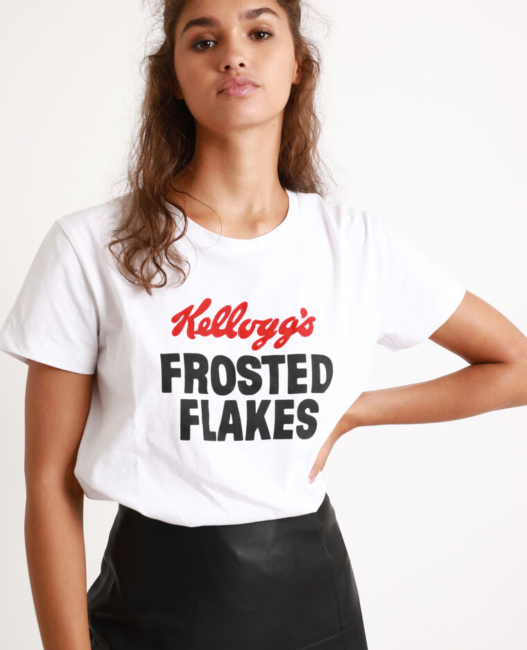 T-shirt Kellogg's blanc