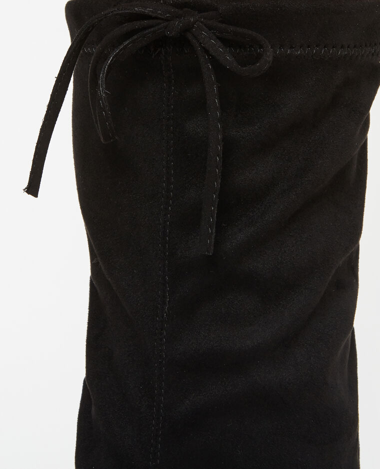 Bottes cuissardes microfibre noir