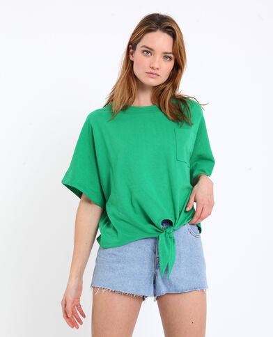 6e75d4ad80a T-shirt à nouer vert