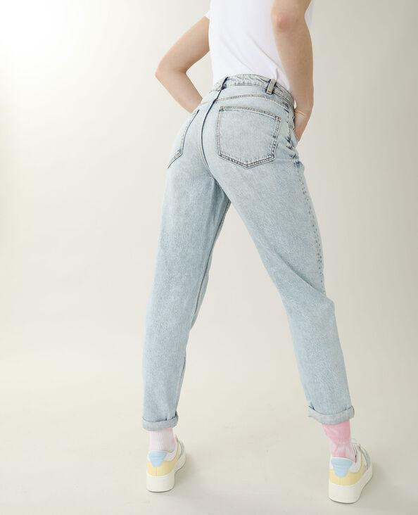 Jean mom high waist bleu clair - Pimkie
