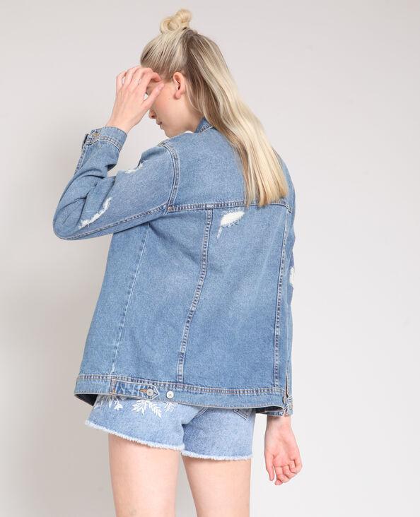 Veste en jean oversize bleu denim