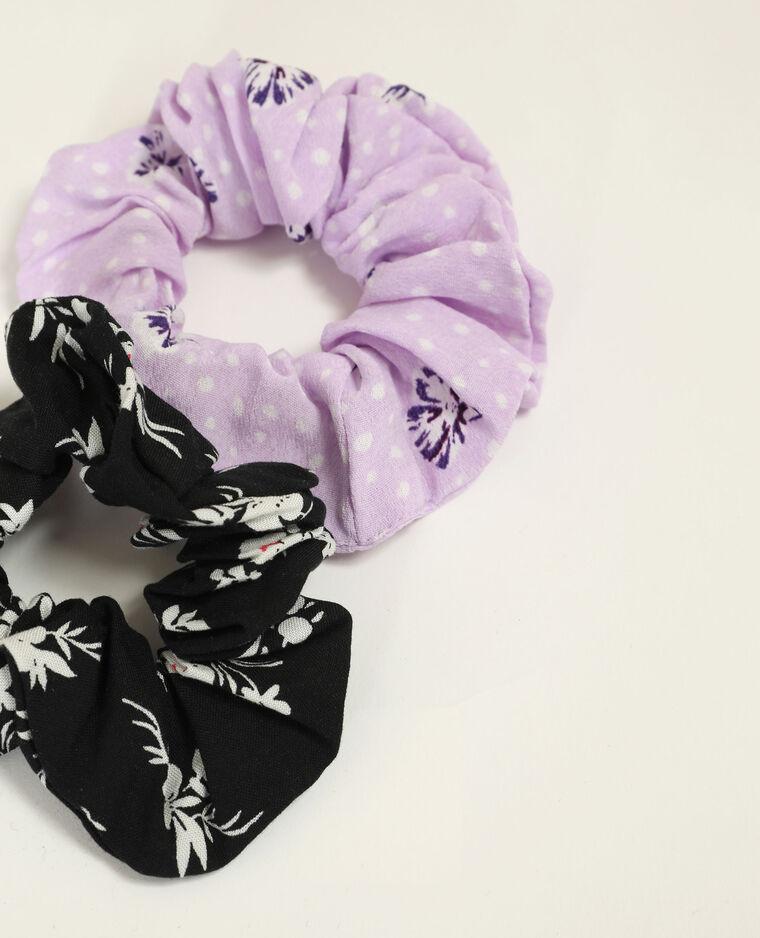 Lot de 2 chouchous violet