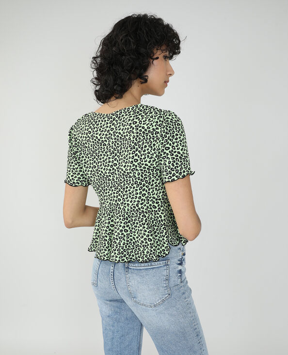 Top léopard vert - Pimkie
