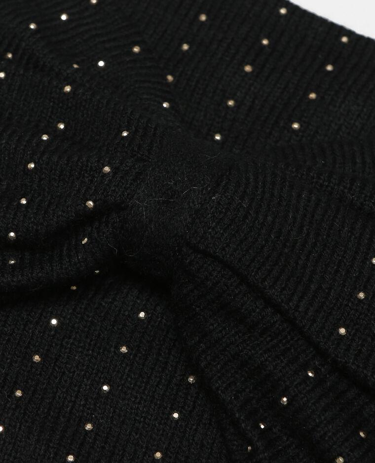 Bandeau clouté noir