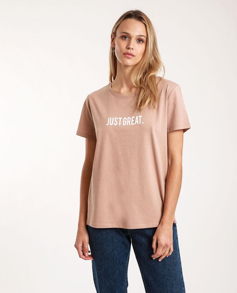T-shirt à message Camel - Pimkie