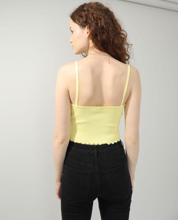 Crop top festonné jaune - Pimkie