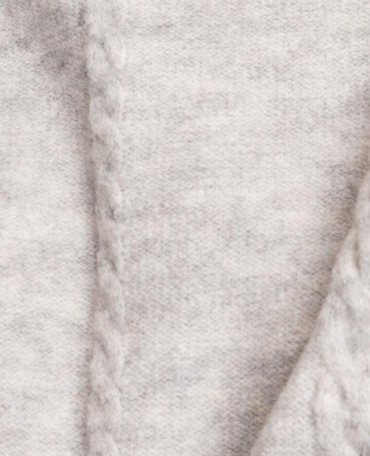 Pull col roulé torsadé gris