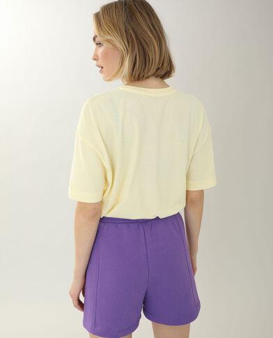 T-shirt brodé jaune - Pimkie