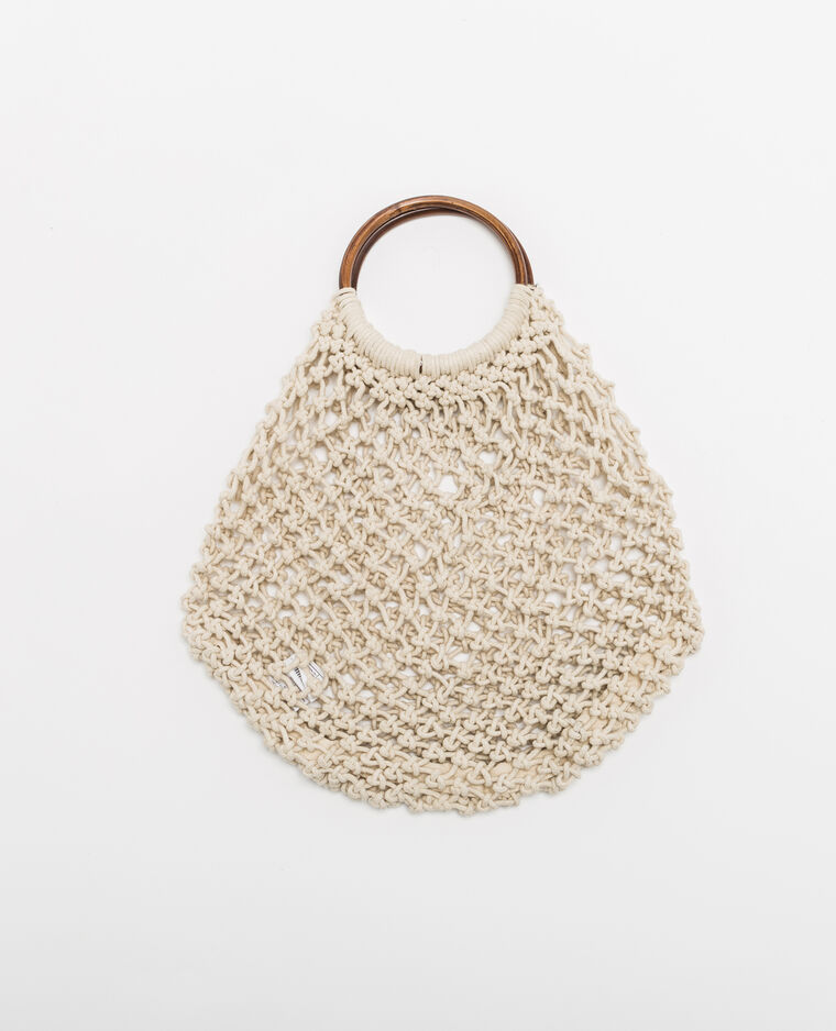 Sac filet beige