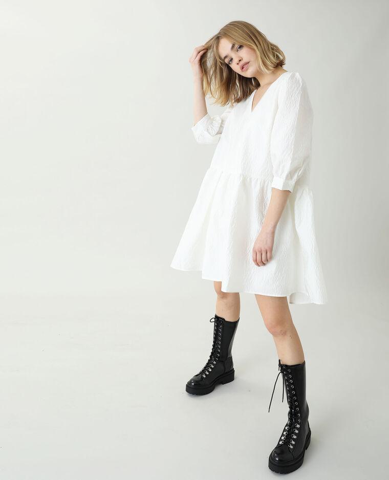Robe fleurie blanc cassé - Pimkie