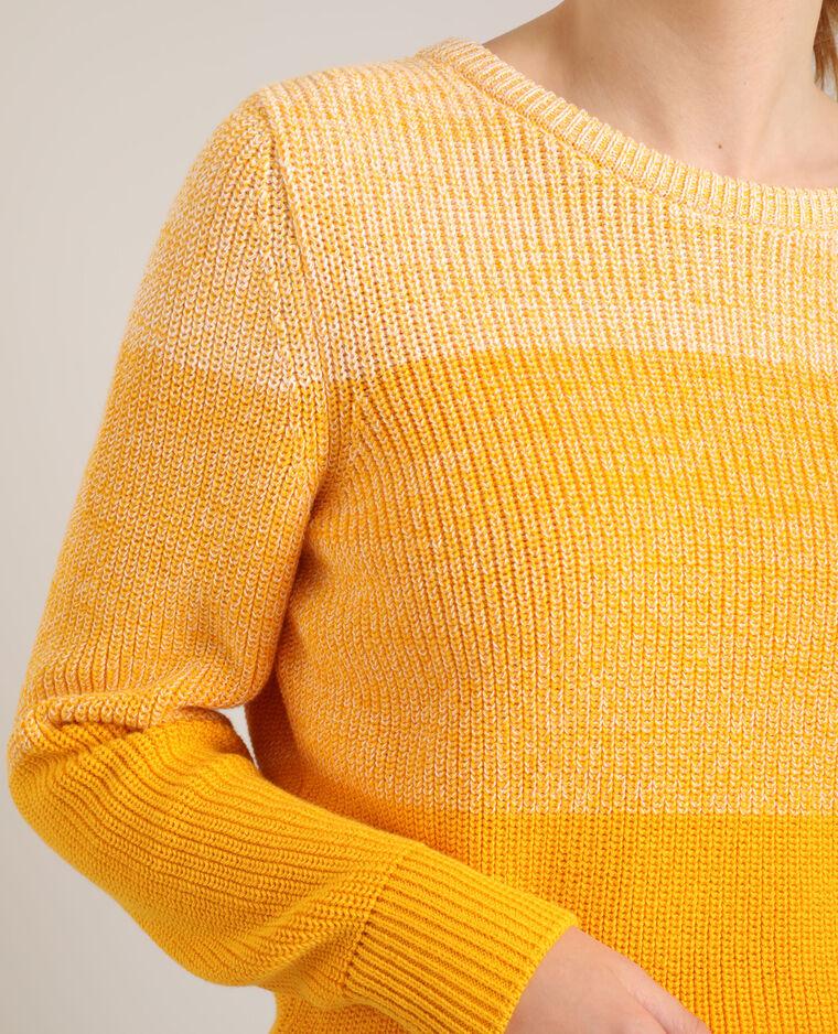 Pull dégradé jaune