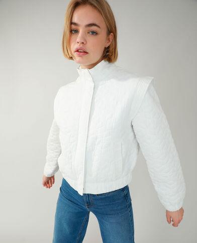 Veste matelassée blanc cassé - Pimkie