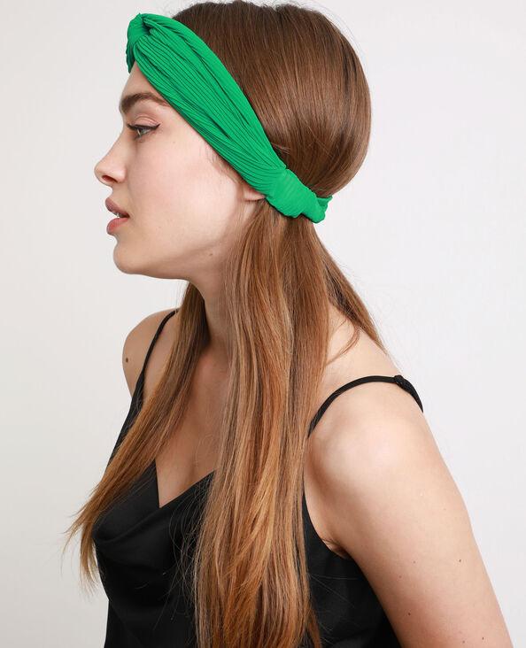 Headband plissé vert