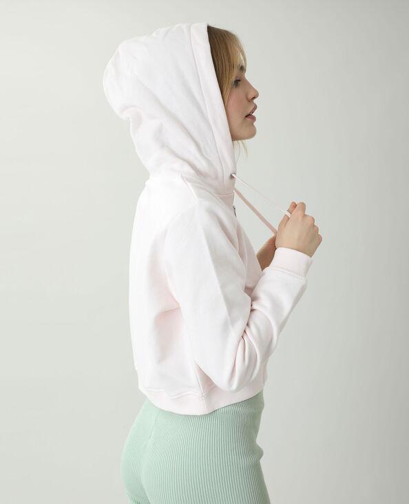 Sweat court à capuche molletonné rose pâle - Pimkie