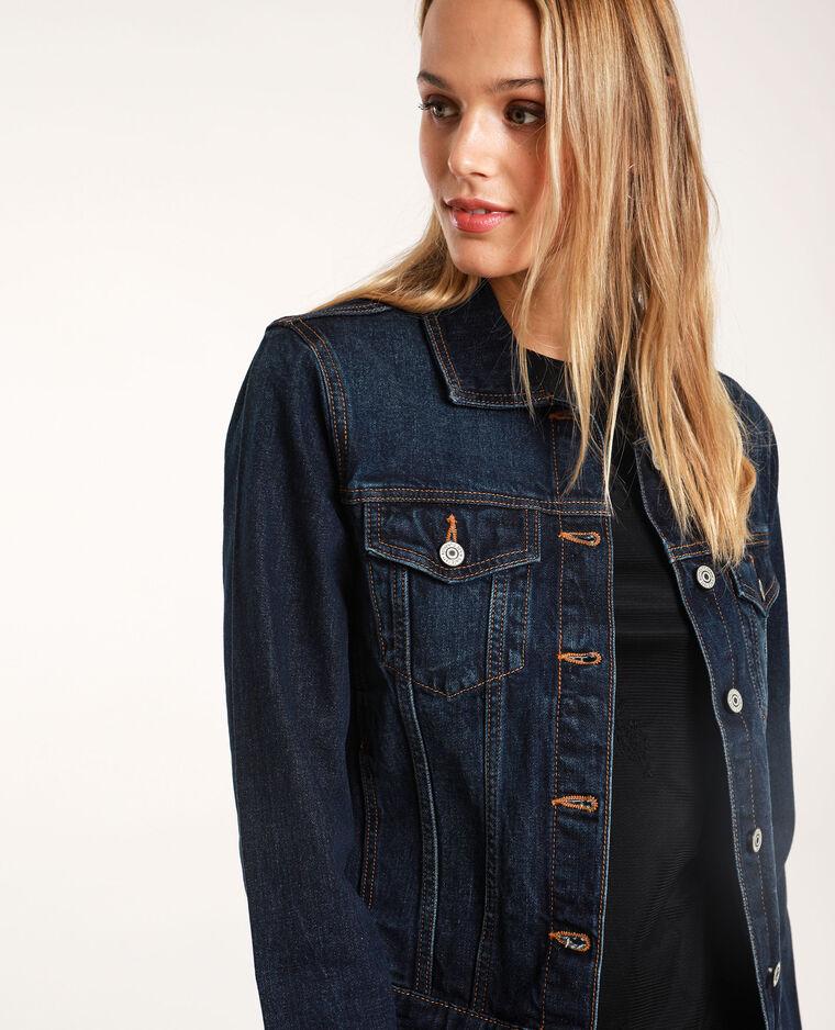 Veste en jean foncé bleu brut