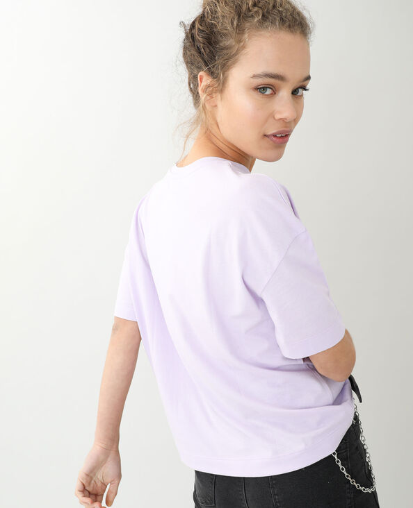 T-shirt oversize manches courtes violet - Pimkie