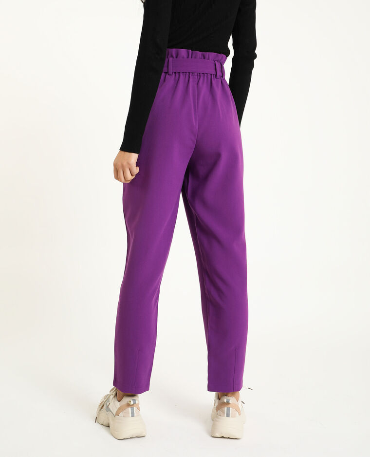 Pantalon taille haute violet