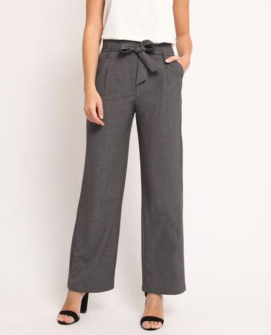 Pantalon large gris chiné c2d274e2ff9
