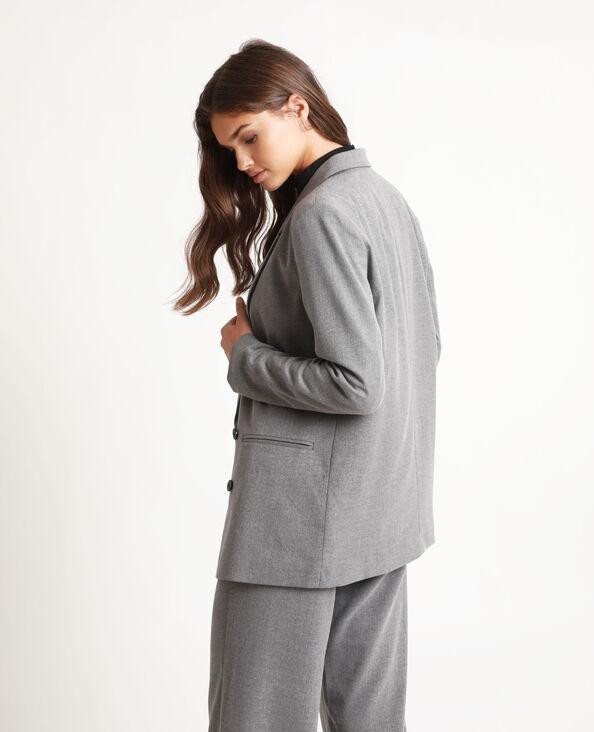 Blazer oversized gris chiné