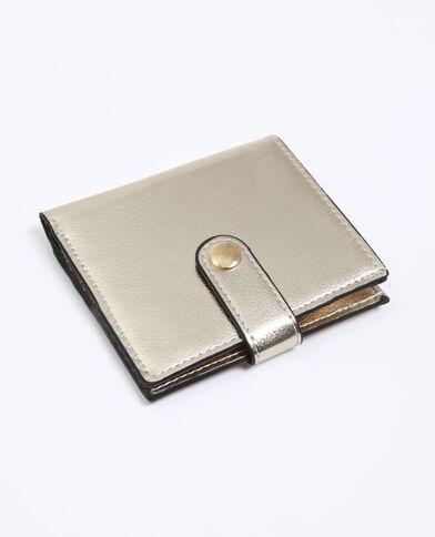Porte-monnaie pressionné doré