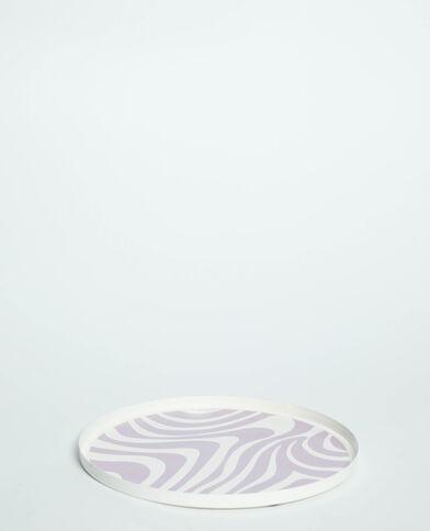 Plateau zébré violet - Pimkie