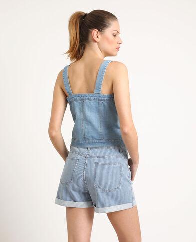 Top en jean bleu clair