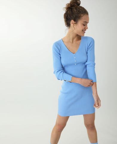 Robe pull fin bleu