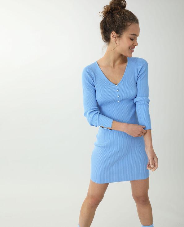 Robe pull fin bleu - Pimkie