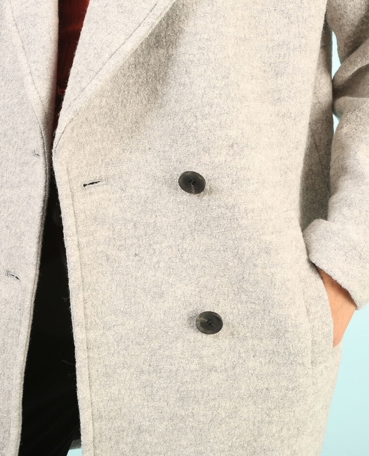 Manteau oversize gris chiné