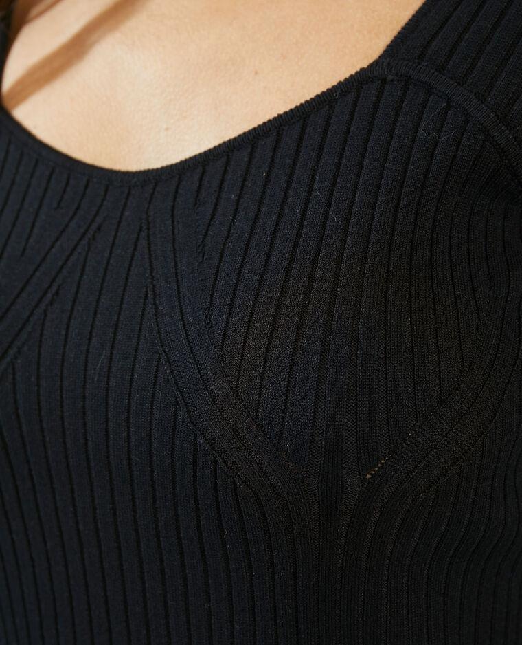 Robe courte côtelée noir - Pimkie