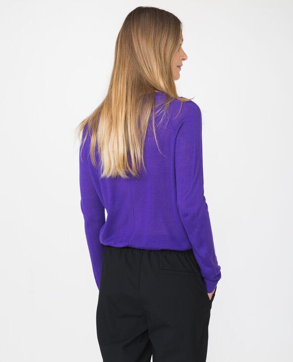 Pull basique léger violet